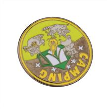 纪念烤漆校徽订制 揭阳压铸烤漆金属徽章 金和定制 定制徽章徽章