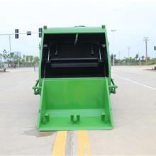 厂家量大优惠垃圾清运车 大型压缩垃圾车 鲁班环卫 8立方后装挂桶垃圾车 新品推荐