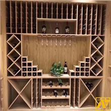 厂家定制葡萄酒柜_盛诺_酒吧展示酒柜