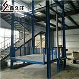 2吨简易双轨货梯货物往复式提升机导轨链条式厂房升降货梯定制款