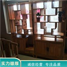 老榆木实木家具 仿古榆木柜子定制 新中式茶水柜 批发价格