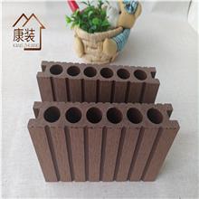 户外PE塑木地板 园林工程家装阳台庭院木塑材料防水防腐厂家定制长度