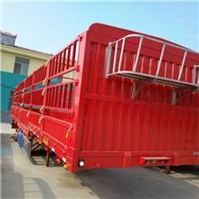 平板花篮半挂车 13米仓栏式半挂车 现货出售高低板仓栏半挂车