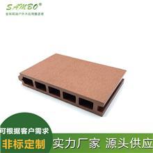供应 森保 新型户外家装建材 木塑方孔长条地板 145*40 码头塑木铺板
