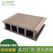 空心方孔木纹户外木塑地板 森保 145*40 新型户外家装建材 厂家定制