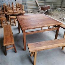 常年销售 老榆木实木家具 中式家具茶桌 实木茶桌椅组合