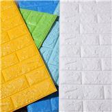 各种颜色3D立体墙纸供应 自粘性强不脱落防水防潮
