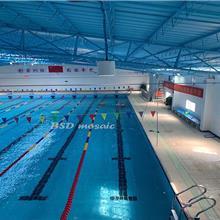 清蓝色蓝色泳池砖马赛克款式 厂家批发供应泳池防滑砖