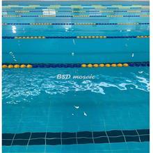 国内标准泳池马赛克批发 长条泳池砖现货 配套配件防滑砖
