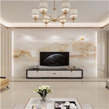 电视背景墙环保木饰面板材 免费设计新型家装材料
