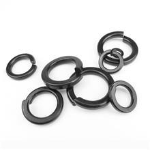 现货供应8.8级高强度黑色铁垫片金属垫圈螺丝平垫加厚