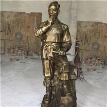 厂家直销建筑业人物雕塑 木工祖师鲁班铜像 鲁班奖铜摆件定做