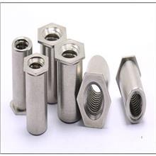 环保厂家大量现货直销碳钢镀锌盲孔压铆螺母柱 规格齐全