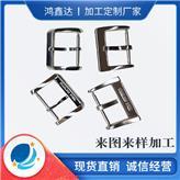 手表针扣零配件  201不锈钢冲压方型表带扣子 东莞钟表零件厂