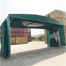 福州晋安卸货活动推拉棚 大排档伸缩雨蓬 户外电动推拉篷