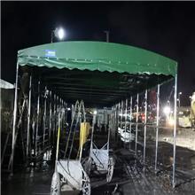 绍兴上虞轨道式电动活动棚 仓储物流推拉蓬 简易移动推拉篷