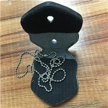 真皮徽章夹挂件通用孔服饰配件 价格不含五金配件 珠链徽章夹1135