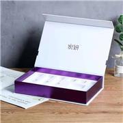 深圳宇硕精美化妆品盒包装 厂家直销定制 化妆品金银卡纸翻盖盒 异形盒 天地盒